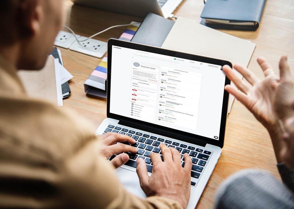 Neue Features auf scrappel verbessern digitale Präsenz von Unternehmen