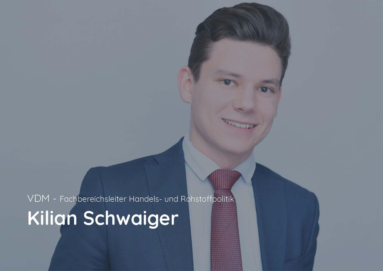 Im Gespräch: Kilian Schwaiger – Fachbereichsleiter Handels- und Rohstoffpolitik beim Verband Deutscher Metallhändler e.V.